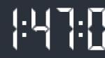Гаджет для Windows 7+ «Цифровые часы»