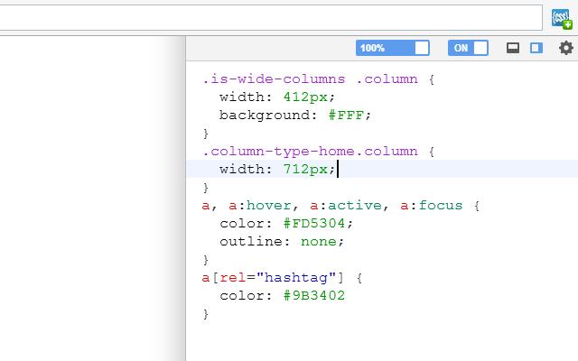 Расширение для браузера «User CSS»