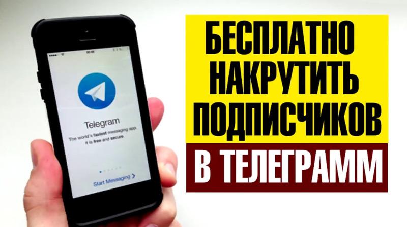 как накрутить подписчиков телеграмм бесплатно